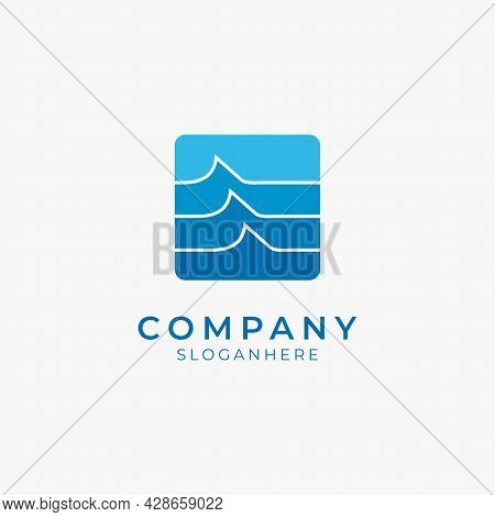 Vector Illustration Of Modern Beach Surf Tropical Logo Icon Perfect For Beach Resort And Modern Comp