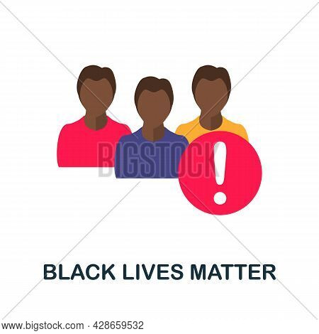 Black Lives Matter Flat Icon. Color Simple Element From Activism Collection. Creative Black Lives Ma