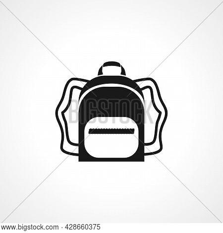Rucksack. Knapsack. Schoolbag. Sack Icon. Rucksack. Knapsack. Schoolbag. Sack Simple Vector Icon. Ru