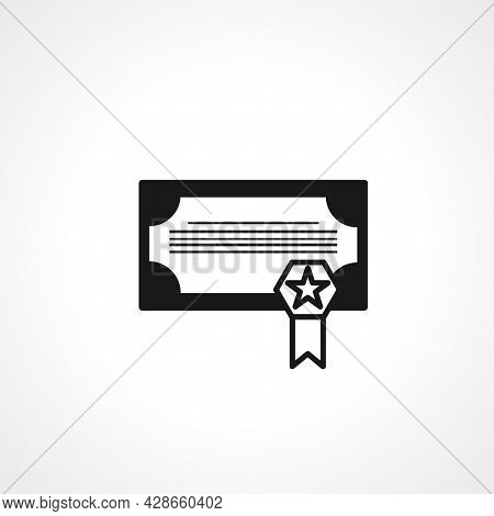 Certificate Icon. Certificate Simple Vector Icon. Certificate Isolated Icon.
