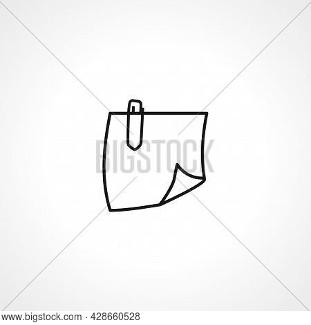 Attachment, Paperclip Icon. Attachment, Paperclip Simple Vector Icon. Attachment, Paperclip Isolated