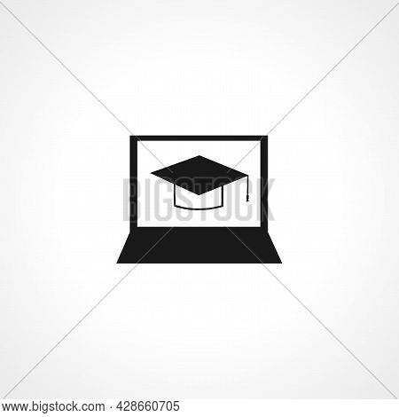 E-learning Icon. E-learning Simple Vector Icon. E-learning Isolated Icon.