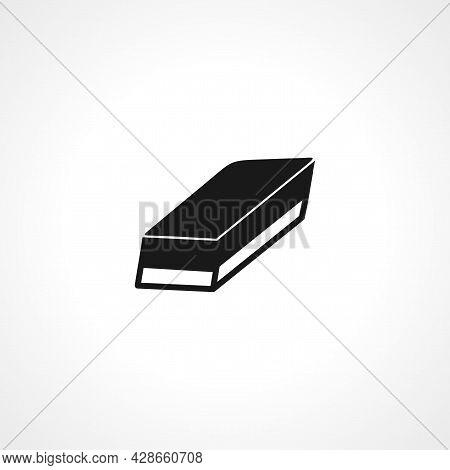 Eraser Icon. Eraser Simple Vector Icon. Eraser Isolated Icon.