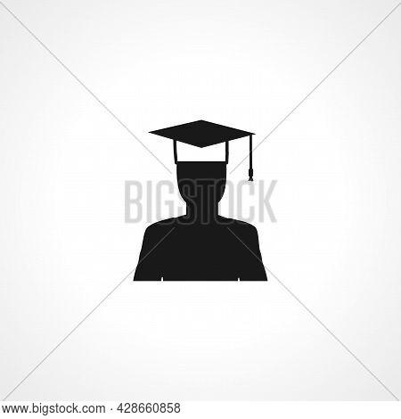 Graduate Icon. Graduate Simple Vector Icon. Graduate Isolated Icon.
