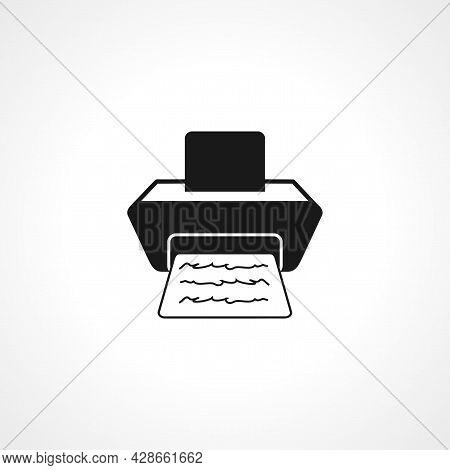 Printer Icon. Printer Simple Vector Icon. Printer Isolated Icon.