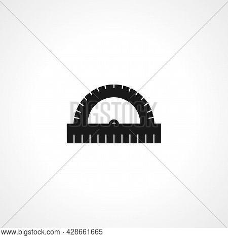 Protractor Icon. Protractor Simple Vector Icon. Protractor Isolated Icon.