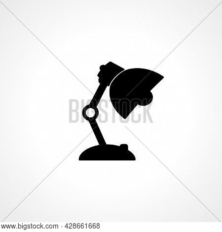 Table Lamp Icon. Table Lamp Simple Vector Icon. Table Lamp Isolated Icon.