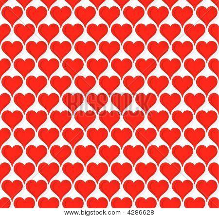 Valentine Hearts Seamless Wallpaper