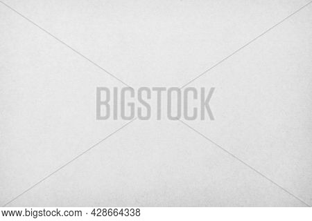 White Recycled Craft Cardboard Texture As Background. Grey Paper Texture, Old Vintage Page Or Grunge