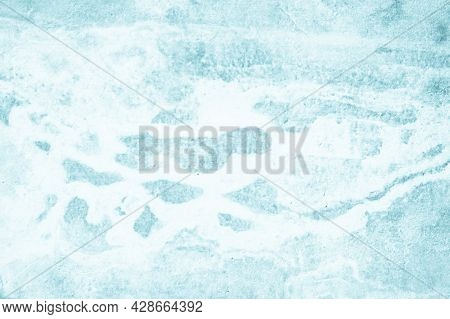 Blue Concrete Wall Of Light Blue Color, Cement Wall, Cement Texture Background For Design, Empty Dar