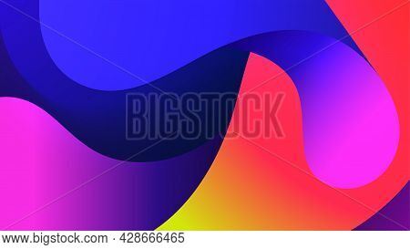 Colorful Motion Wave Dynamic Vivid Abstract Vector Background