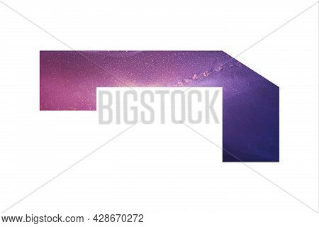 Decorative Numeral 1 With Abstract Hand-painted Alcohol Ink Texture. Galaxy Texture. Isolated On Whi