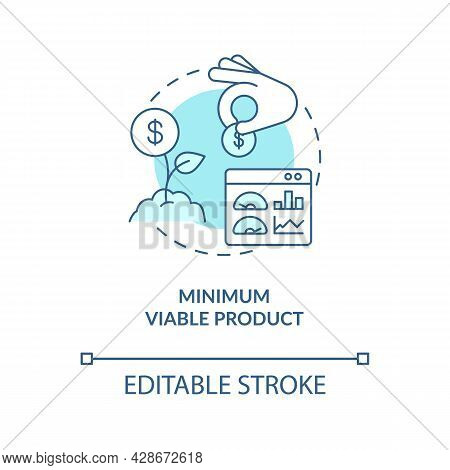 Minimum Viable Product Blue Concept Icon. Early Business Development. Investment In Company. Startup