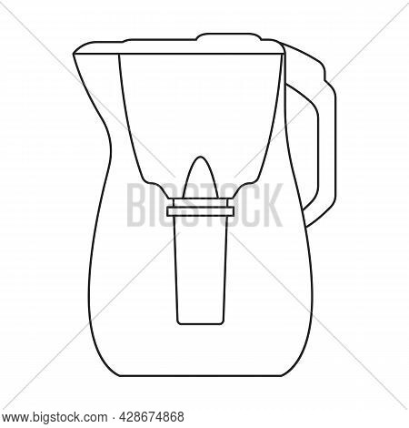Filtration Tank Vector Icon.outline Vector Icon Isolated On White Background Filtration Tank.