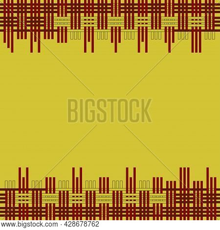 Colorful Background Is Woven With Box Pattern. The Pattern Can Be Used For A Backdrop, Book, Magazin