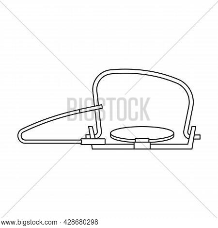 Trap For Animal Vector Icon.outline Vector Icon Isolated On White Background Trap For Animal.
