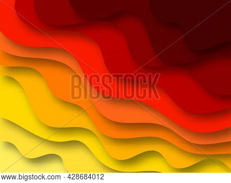 Colored Paper Cutout. Modern Design. Layout For Presentation Backgrounds