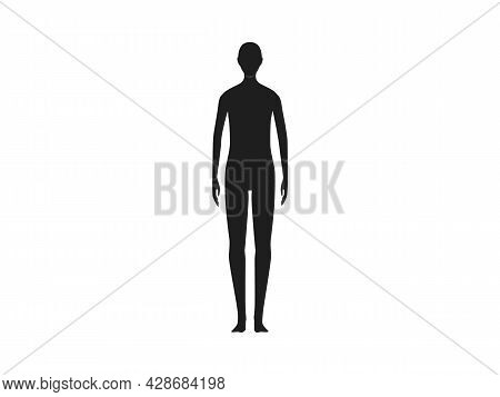 Front View Of A X-gender Human Body Silhouette.