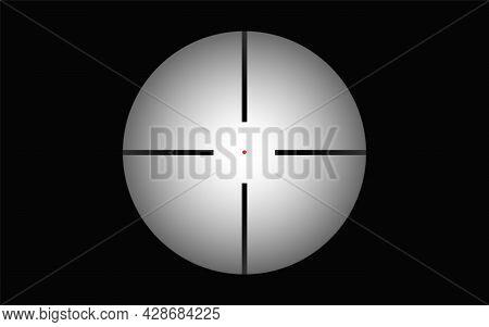 Crosshair Of Sniper Scope Viewfinder. Aiming Cross Of A Gun Optics. Sharpshooter Overlay Frame.
