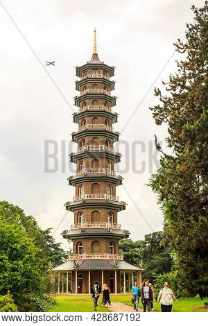 The Great Pagoda, Kew Gardens, London, 2021.  Built In The 1800\\\'s This Is An Iconic Landmark With