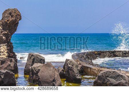 Landscape Playa De Las Americas Canary Spanish Island Tenerife Africa.