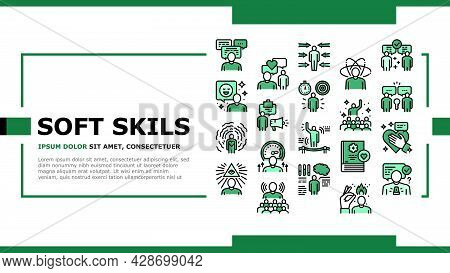 Soft Skills People Landing Web Page Header Banner Template Vector. Creativity And Decision Making, U