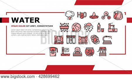 Water Purification Landing Web Page Header Banner Template Vector. Filter And Purifying Equipment, B