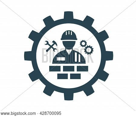 Vector Illustration Icon For Repair, Installation And Maintenance And Construction Work.