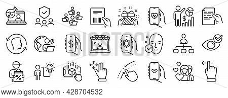 Set Of People Icons, Such As Check Eye, Internet App, Couple Icons. Delivery Discount, Seo Statistic