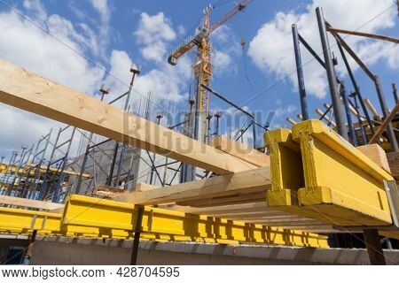 Formwork For Monolithic Construction. Building Construction On Monolithic Technology. Construction O