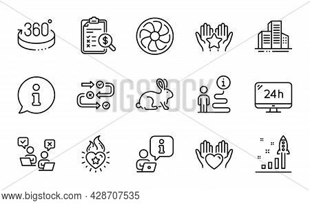 Business Icons Set. Included Icon As Development Plan, 24h Service, 360 Degrees Signs. Accounting Re