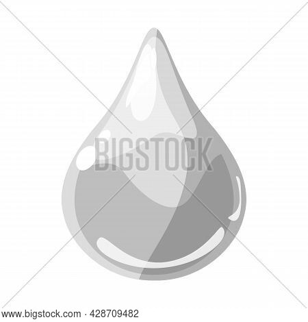 Drop White Shiny Glossy Colorful Game Asset. Aqua, Jelly, Crystal, Glass Drip, Bubble Shot Elements.