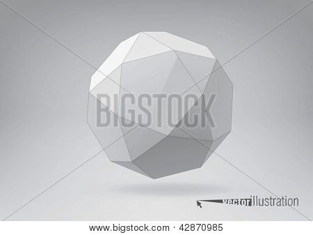 Icosidodecahedron for your graphic design. You can change colors