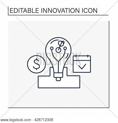 Core Innovation Line Icon.small, Incremental Improvements To Existing Products Or Services. Main Sou