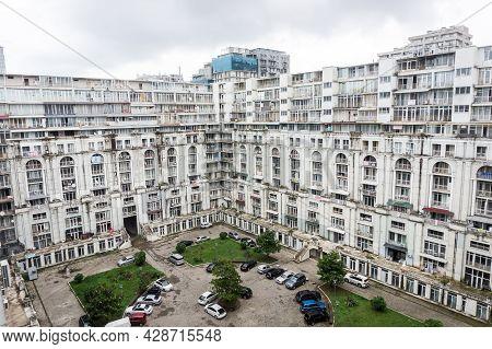 Batumi, Georgia - July 1, 2021: Magnolia Apartment Complex Building In The Black Sea Coast Resort In