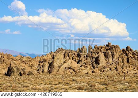Rocks And Boulders Uplifted From Underground Caused By Seismic Activity Taken On Arid Badlands At Th