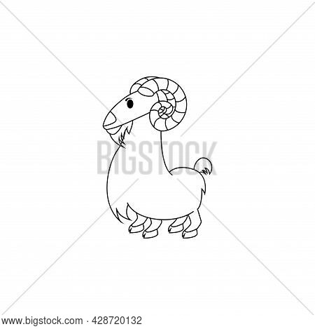Isolated Aries Animal Character Zodiac Sign Vector