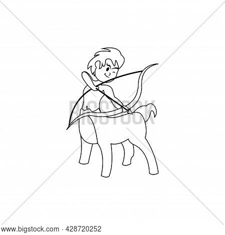 Isolated Sagittarius Animal Character Zodiac Sign Vector