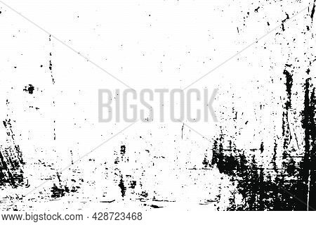 Grunge Vector Texture. Abstract Cracked Background. Aged And Weathered Broken Surface. Dirty And Dam