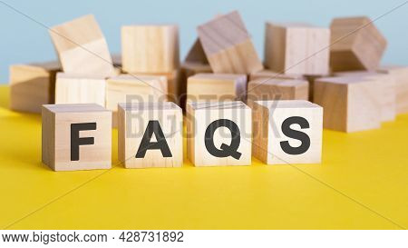 Faqs Word Construction With Letter Blocks And A Shallow Depth Of Field