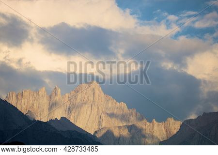 Storm Clouds Above Mt Whitney, Ca During The Summer Monsoon Season Taken In The Rural Sierra Nevada