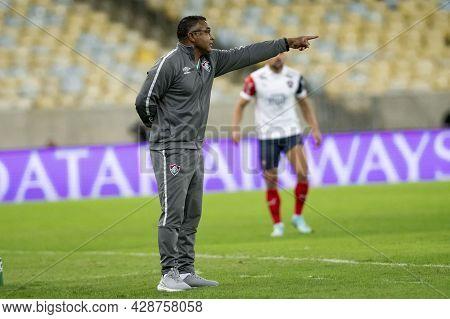 Rio, Brazil - August 3, 2021: Roger Machado Coach In Match Between Fluminense Vs Cerro Porteno By Ro