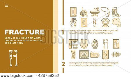 Gynecologist Treatment Landing Web Page Header Banner Template Vector. Gynecologist Colposcope And S