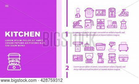 Birthday Event Party Landing Web Page Header Banner Template Vector. Envelope With Birthday Invitati