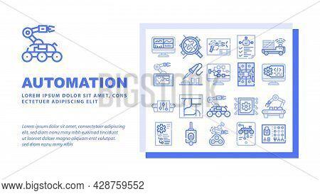Logistics Service Landing Web Page Header Banner Template Vector. Logistics Warehouse And Conveyor,