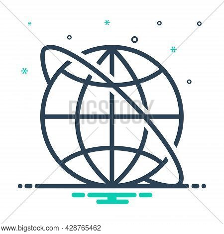 Mix Icon For Internet Cyberspace Online Access Website Network Globe Www