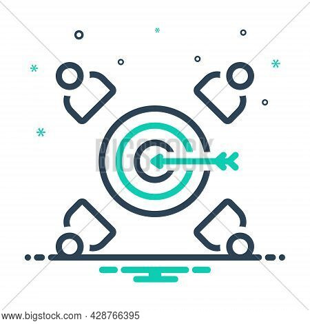Mix Icon For Customer-target Customer Target Client Consumer Patron Purchaser Regular-shopper Client