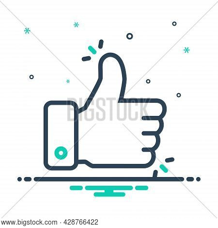 Mix Icon For Like-button Conforming Good-job Ok Approval Excellence Thumb Gesture Confirmation Feedb