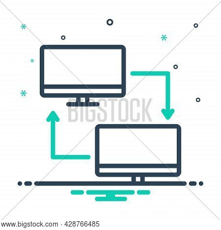 Mix Icon For Pc-share Pc Share Transfer Computer Device Display Electronic Software Technology Monit