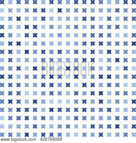 Seamless Pattern With Blue Criss-cross On White Background